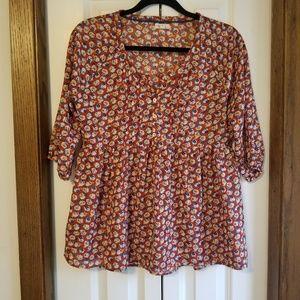 Antilia Femme| Anthropologie floral blouse